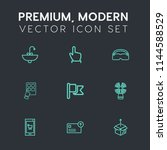 modern  simple vector icon set... | Shutterstock .eps vector #1144588529