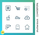 modern  simple vector icon set... | Shutterstock .eps vector #1144589396