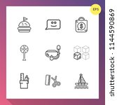 modern  simple vector icon set... | Shutterstock .eps vector #1144590869