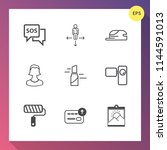 modern  simple vector icon set... | Shutterstock .eps vector #1144591013