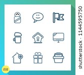 modern  simple vector icon set... | Shutterstock .eps vector #1144595750