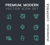 modern  simple vector icon set... | Shutterstock .eps vector #1144595816