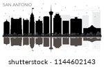 san antonio texas city skyline... | Shutterstock .eps vector #1144602143