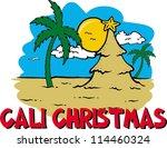 cali christmas | Shutterstock .eps vector #114460324