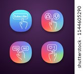 click app icons set. apps...