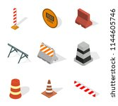 set of different signs road...   Shutterstock .eps vector #1144605746