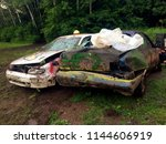 demolition derby destroyed cars ... | Shutterstock . vector #1144606919