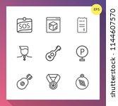 modern  simple vector icon set... | Shutterstock .eps vector #1144607570