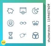 modern  simple vector icon set...   Shutterstock .eps vector #1144607609