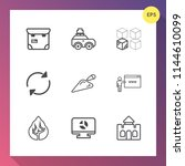 modern  simple vector icon set... | Shutterstock .eps vector #1144610099