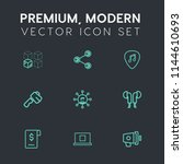 modern  simple vector icon set... | Shutterstock .eps vector #1144610693