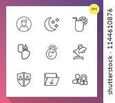 modern  simple vector icon set...   Shutterstock .eps vector #1144610876