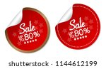 sale up to 80  stickers | Shutterstock .eps vector #1144612199