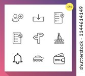 modern  simple vector icon set... | Shutterstock .eps vector #1144614149