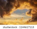 dramatic cloudscape on a summer ... | Shutterstock . vector #1144617113