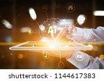ai  artificial intelligence ... | Shutterstock . vector #1144617383