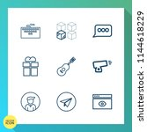 modern  simple vector icon set... | Shutterstock .eps vector #1144618229