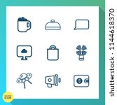 modern  simple vector icon set... | Shutterstock .eps vector #1144618370