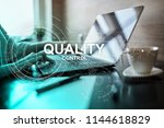 quality assurance. control and... | Shutterstock . vector #1144618829