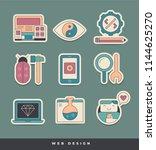 web design and development... | Shutterstock .eps vector #1144625270