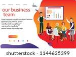 3d  business team  landing page ... | Shutterstock .eps vector #1144625399