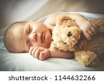 portrait of cute little baby... | Shutterstock . vector #1144632266