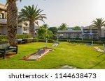 hersonissos  crete  greece ... | Shutterstock . vector #1144638473