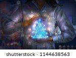 woman holding business... | Shutterstock . vector #1144638563