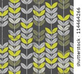 retro green leaves on branches... | Shutterstock .eps vector #114464266