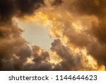 dramatic cloudscape with a rift ... | Shutterstock . vector #1144644623