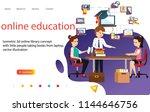 3d  online education  landing... | Shutterstock .eps vector #1144646756