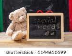 special needs at school. teddy... | Shutterstock . vector #1144650599