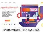 3d app development  landing... | Shutterstock .eps vector #1144653266
