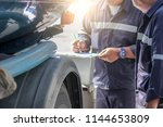 employers checking drivers for... | Shutterstock . vector #1144653809