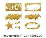 scratch cards vector. lottery... | Shutterstock .eps vector #1144656200