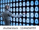 3d rendering ai robot analyze x ...   Shutterstock . vector #1144656959
