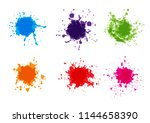 vector colorful paint splatter. ... | Shutterstock .eps vector #1144658390