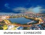 beautiful landscape of blue...   Shutterstock . vector #1144661450