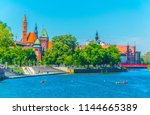 riverside of odra  wroclaw ... | Shutterstock . vector #1144665389