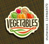 logo for fresh vegetables  sign ... | Shutterstock . vector #1144665470