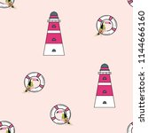 travel seamless pattern with... | Shutterstock .eps vector #1144666160