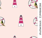 travel seamless pattern with... | Shutterstock .eps vector #1144666166