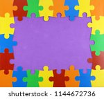Frame Of Colorful Puzzle Pieces ...