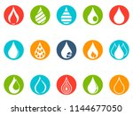 drop round button icons set  | Shutterstock .eps vector #1144677050