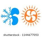 simple air conditioner symbol... | Shutterstock .eps vector #1144677053