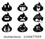 funny smiley shit face icons  | Shutterstock .eps vector #1144677059