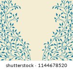 hand drawn ivy and vines in... | Shutterstock .eps vector #1144678520