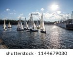gdynia  poland   july 27  2018  ... | Shutterstock . vector #1144679030