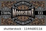 moonshine vintage decorative...   Shutterstock .eps vector #1144680116