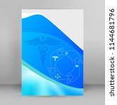 blue medical background... | Shutterstock .eps vector #1144681796